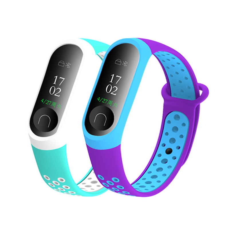 Sport Mi Band 3 4 Strap Wrist Strap For Xiaomi Mi Band 3 Sport Silicone Bracelet For Mi Band 4 3 Band3 NFC Smart Watch Bracelet