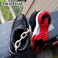Бесплатная доставка 3d иордания обувь брелок брелок Кроссовки Ретро брелки 3d обувь Air Jordan AJ1 серии с Реальными Шнурки брелок