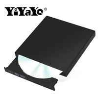 YiYaYo Внешний USB 2,0 DVD RW компакт-дисков Писатель горелки CD/-Встроенная память плеер тонкий portátil для WINDOWS XP/7/8/10 для ноутбуков Mac