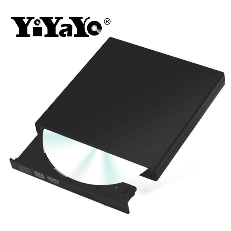 YiYaYo Externe USB 2.0 DVD RW CD Stick Schriftsteller Brenner CD/-ROM Player nehmen Portatil Für WINDOWS XP/ 7/8/10 für Mac Laptop