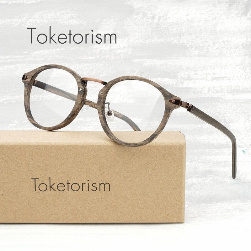25c57b4f551c Toketorism vintage eyewear frames for men acetate eyeglasses round women  optical glasses frame 60CB