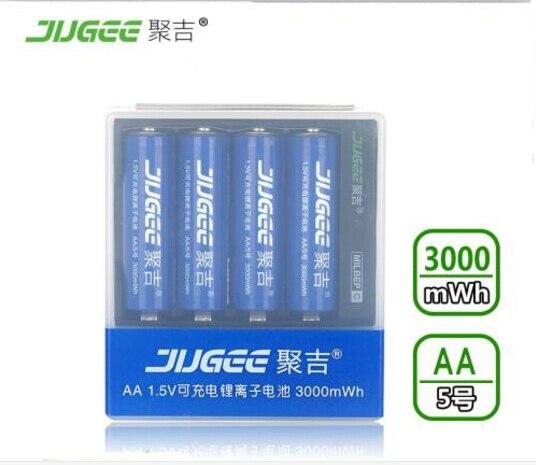 1 5 v AA 14500 lifepo4 Li ion Toys batteries 3000mWh 4pcs JUGEE AA Li polymer