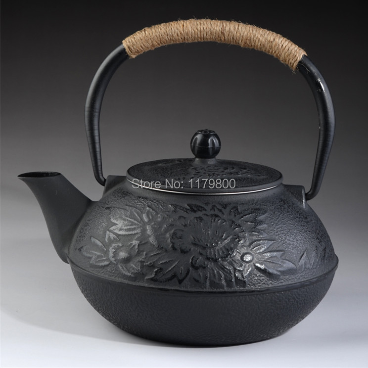 Japanese Style Cast Iron Kettle Tetsubin Teapot With Strainer 0 9L 30oz Water Capacity