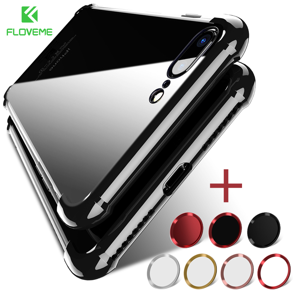 FLOVEME Full Protection Case For iPhone 6 6s Plus Cover 360 Coverage Cases For iPhone X 7 8 6s 6 Back Shell Accessories Capinhas