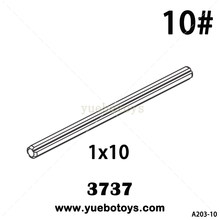 diy toys Beneficial wisdom Science and education accessories Lego3737 1*10 Cross bar 10# 100g/lot(China)