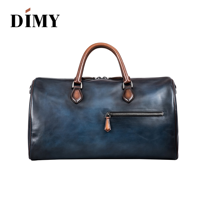 DIMY brand fashion extra large weekend duffel bag big genuine leather business men's travel bag popular designer Free shipping
