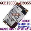 Сьерра 3 г карты MC8355 Gobi3000 HS2430 HSPA + EV-DO REV A в течение 14 Мбит / 3.1 Мбит спс 634400 - 001