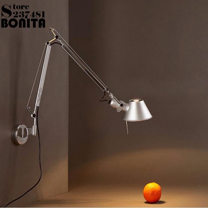 2 unidsset plata moderna plegable luces de pared para el hogar