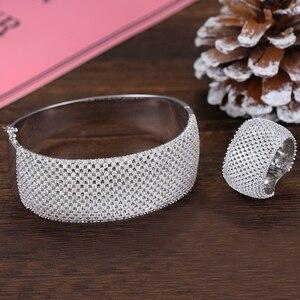 Image 5 - GODKI Conjuntos de anillos de tenis de lujo para mujer, juegos de joyas para mujer, circón cúbico de boda, aretes de CZ de cristal, modernos, 2019