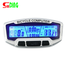 SunDing 558 A Wired Waterproof Bike Computer LCD Backlight Cycling Bicycle Odometer Speedometer Stopwatch Velometer Hot