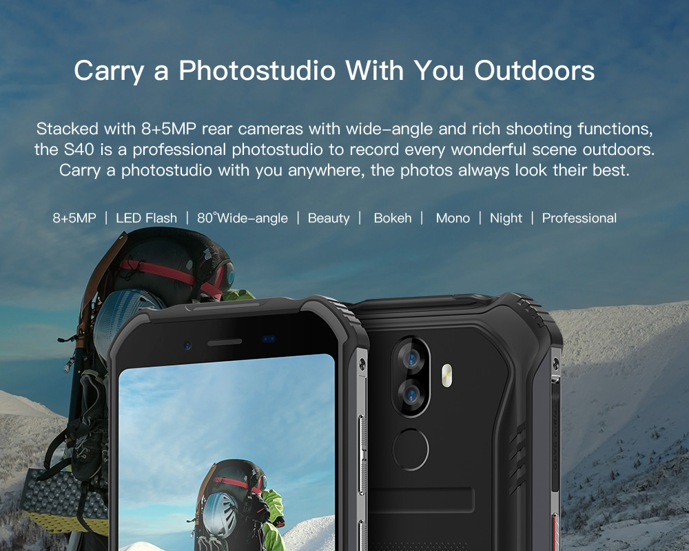 HTB1amZkL9zqK1RjSZFLq6An2XXao DOOGEE S40 4GNetwork Rugged Mobile Phone 5.5inch Display 4650mAh MT6739 Quad Core 3GB RAM 32GB ROM Android 9.0 8.0MP IP68/IP69K