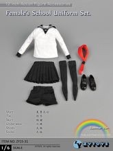 1/6 Female Clothing Girl School Uniform Set Model Toys ZY Toys For 12″ Action Figure Body Accessory