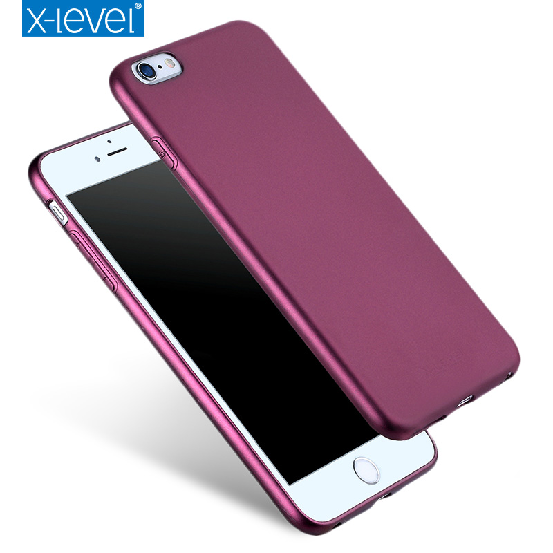 X-Level Guardian Ultra thin Soft Matte TPU Case for iPhone 6/6S Scrub Back Cover for iPhone 6S/6 Silicone Case for iPhone6 Capa