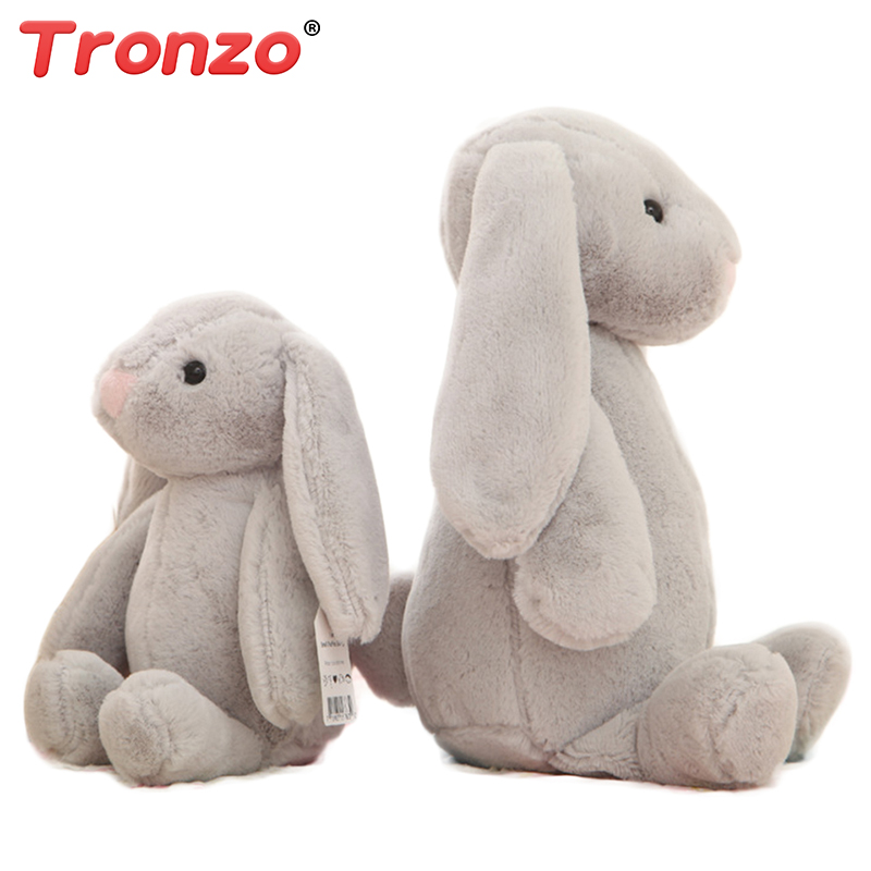 Tronzo 25cm/35cm Kawaii Rabbit Doll Baby Soft Plush Toys Long Ear Rabbit Stuffed Animal Halloween Gift For Kids Girl Wholesale