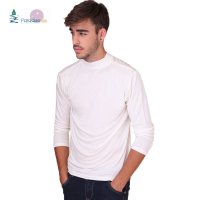 Men's Mock Turtleneck Comfy Top 100% Pure Silk Knit Bottoming Shirt Solid Size M L XL XXL