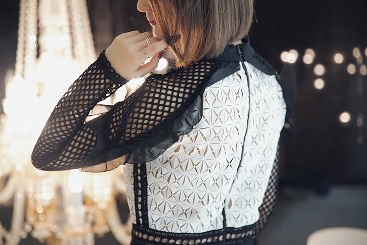 94b2f025a84b Aliexpress.com : Buy 2017 Spring Summer Self Portrait Geometric Mini Dress  Monochrome Lace Elegant Women Hot Sale from Reliable lace chiffon dress  suppliers ...