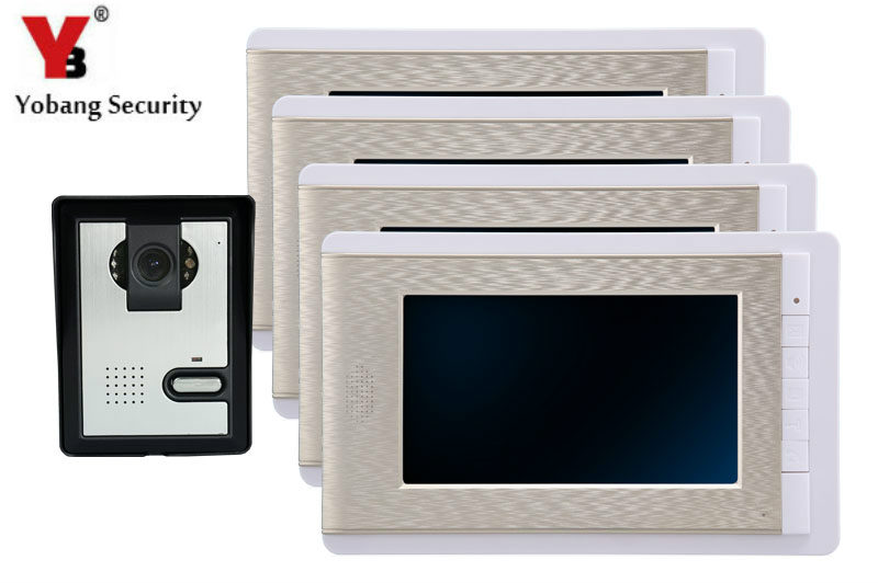 YobangSecurity 7 Inch Wire Video Door Phone Indoor Monitor font b Night b font font b