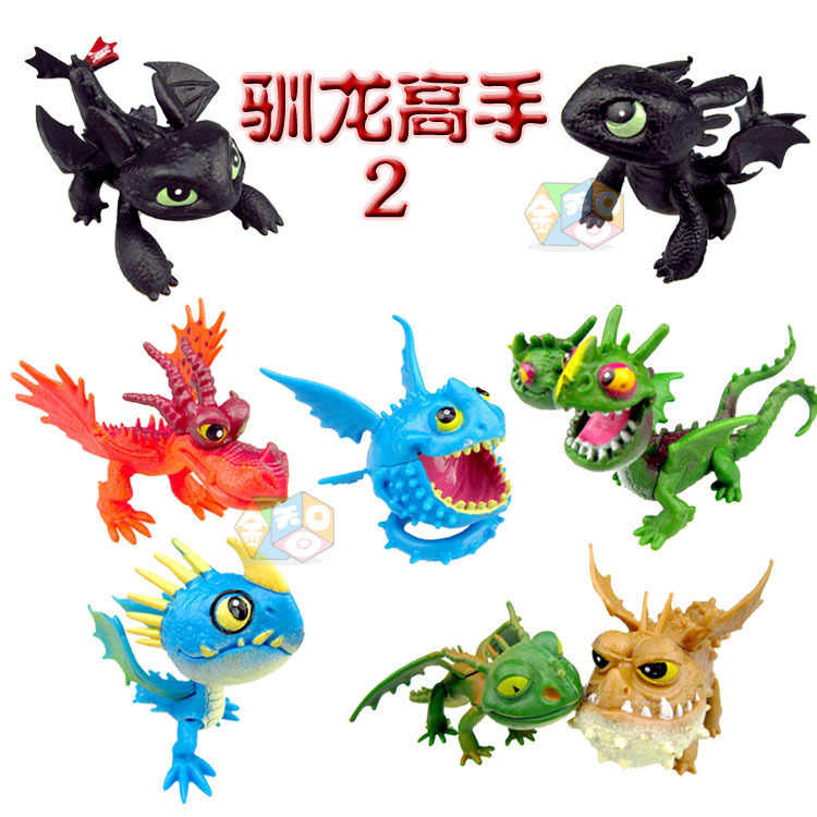 Ação Brinquedos Modelo Figura Desdentado How to Train Your Dragon 2 8 pçs/set mini Pet Dragão 5-7 CM o Hiccup Desdentado Decoração Da Mesa das Bonecas