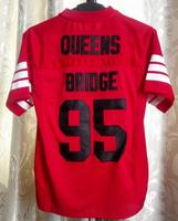 Prodigy 95 # Хеннесси Queens мост Американский Футбол Джерси Красный S-3XL Все прошитой новое поступление