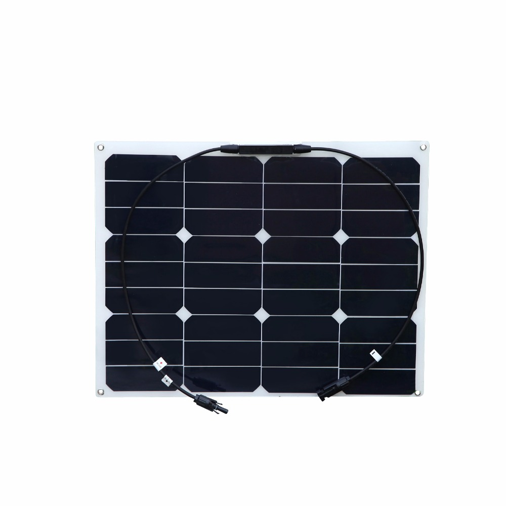 BOGUANG 40W flexible solar panel MC4 connector high efficiency solar cell sun power module for RV boat yacht motor-home car boguang 16v 90w solar panel quality cell aluminum board for home system car rv boat yacht 12v battery charger