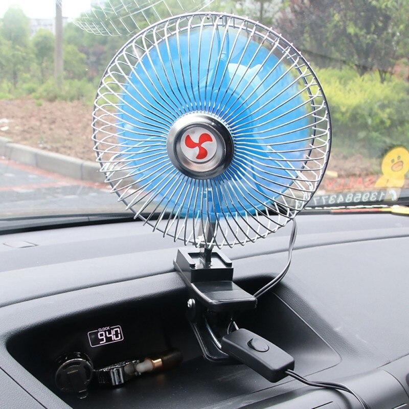 6 Inch 12vmini Electric Car Fan Low Noise Summer Car Air