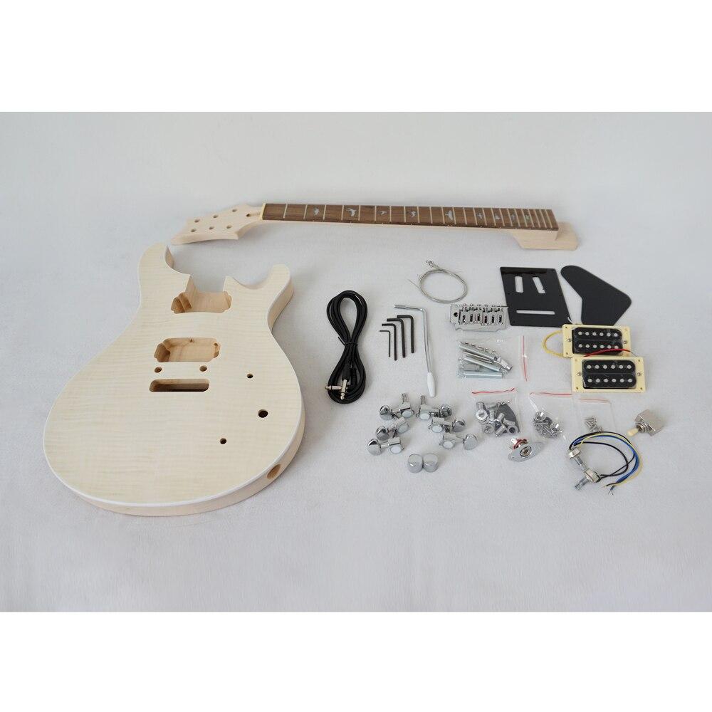 Chine Aiersi inachevé bricolage PRS Kits de guitare électrique avec tous les matériels EK-010