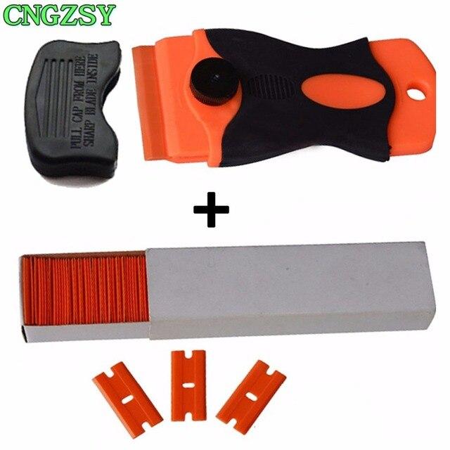 CNGZSY – grattoir à colle en céramique, nettoyeur de vitres, pelle à glace, Film autocollant, spatule détiquettes, outils de nettoyage de voiture K04