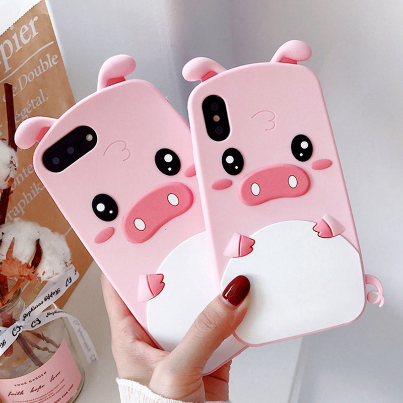 Cute <font><b>3D</b></font> Cartoon Pink Pig Soft Silicone Phone Cases for <font><b>Xiaomi</b></font> <font><b>Redmi</b></font> Note 4 4X 5A 5 Plus <font><b>4A</b></font> Cover for <font><b>Redmi</b></font> S2 Shell image
