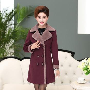 Female clothing autumn and winter woolen outerwear medium-long women's woolen cardigan overcoat Europe Fall Winter Coat Women