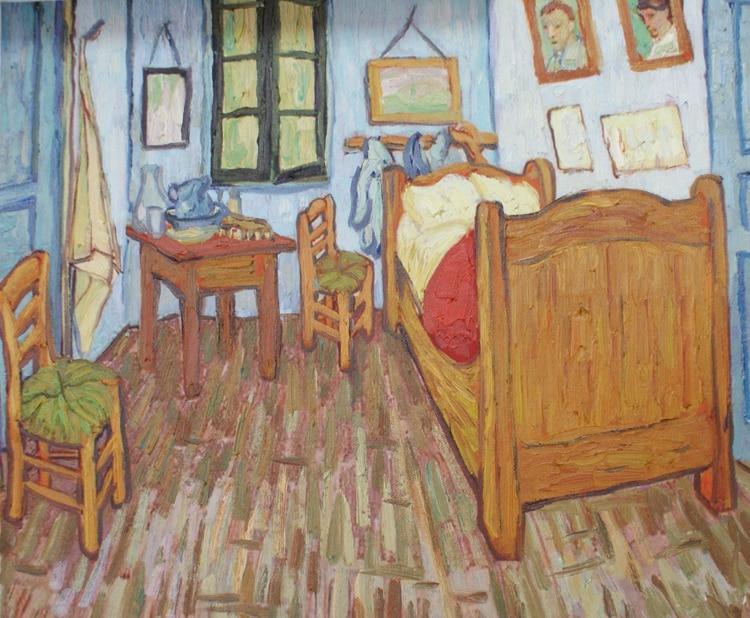 Toile Peintures Sans Cadre Paysage Chef D U0027œuvre Reproduction La Chambre à  Arles, C.1887 Par: Vincent Van Gogh
