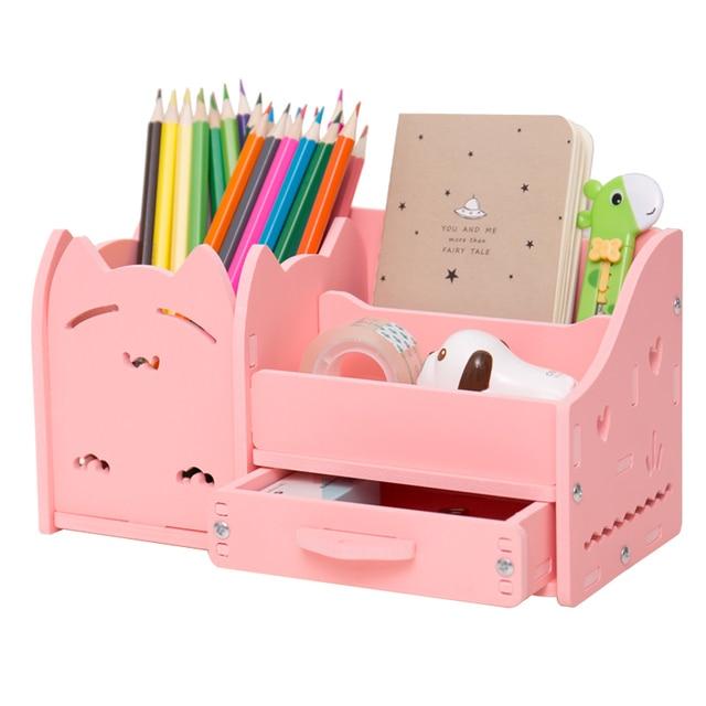 Fashion Korean Pencil Strogae Box Creative Multifunction Office Storage Box Accessories Desktop Office Home Storage Organization