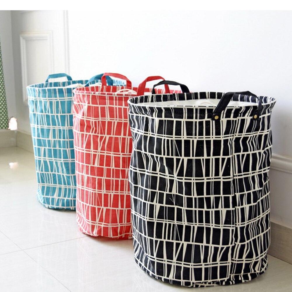 Foldable Mosaic Pattern Laundry Basket Sundries Kids Toy Clothes Storage  Bucket Hamper Organzier Bag(China
