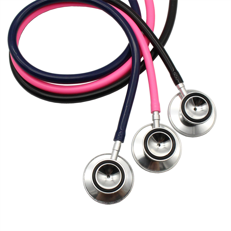 Portable Dual Head Stethoscope For Doctor Nurse Medical Student Health Blood Light Weight Aluminum Chest Piece Blood Pressure