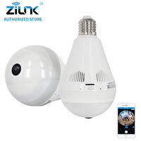 ZILNK 2MP 1080P HD Fisheye 360 Degree Panorama Lamp Bulb Light IP Camera Two Way Audio