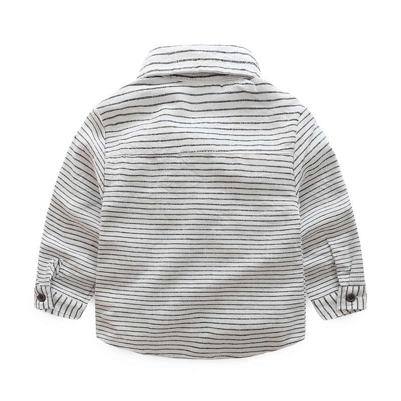 68ddf04f3 ... Newborn baby clothes children clothing gentleman baby boy grey striped  shirt+overalls fashion baby boy