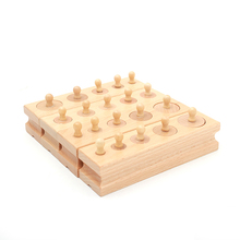 Montessori Educational Wooden Toys For Children Cylinder Socket Blocks Toy Baby Development Practice and Senses 4pc/1 set