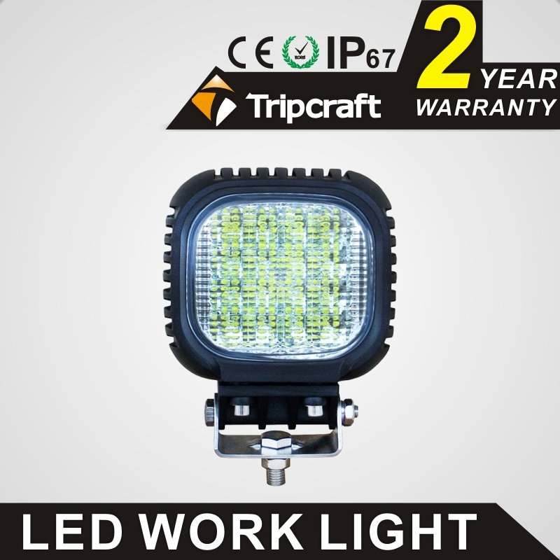 Wholesale 48w led work light for Suv 4x4 car suv truck 12V 24V 4x4 Driving Spot lights Flood lights for tractor offroad light lyc 6000k led daylight for citroen c4 for nissan led headlights 12v car led lights ip 68 chips offroad work light 40w