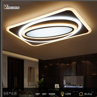 Dimming Modern Led Ceiling Lights For Living Room Bedroom Home Dec Remote Control Lamparas De Techo