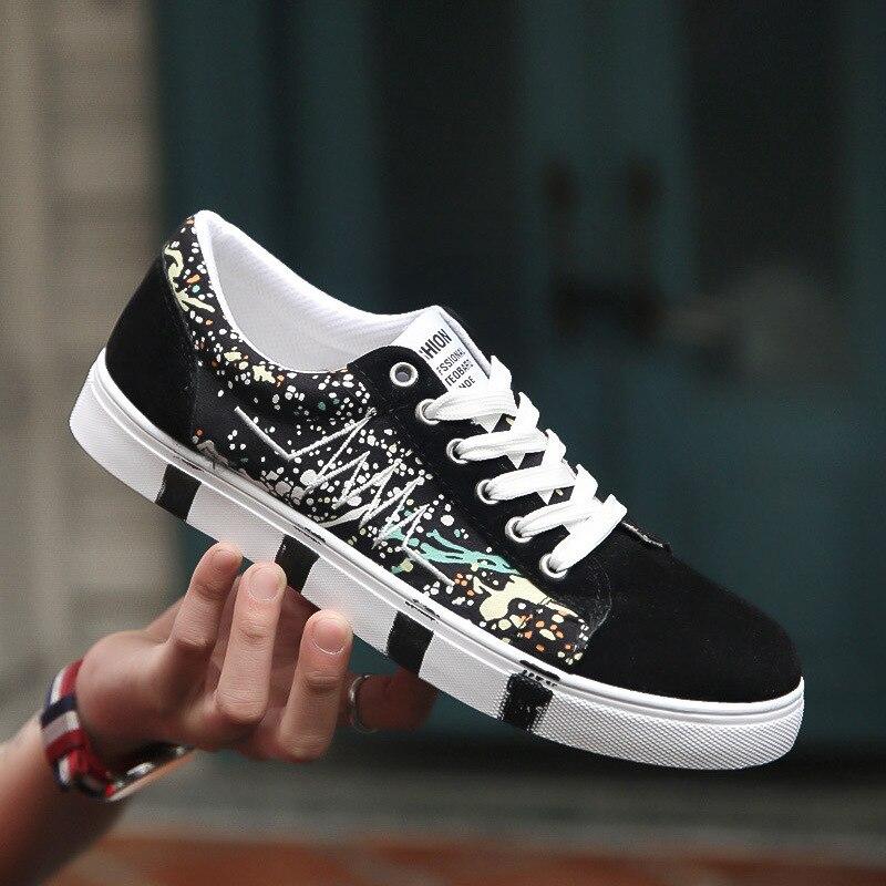 2018 new Men s Shallow Vulcanize Shoes Men Leather Comfortable Lightweight  Sneakers Man Lace-Up Designer Shoes canvas shoes e35931c461dd