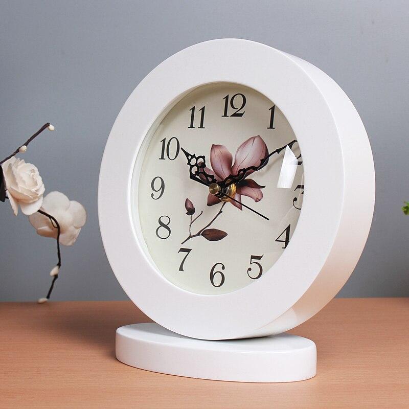 N meijswxj настольные часы Saat Reloj настольные часы прикроватные смолы немой Ретро Таблица Часы Relogio reveil Маса saati Relogio de меса