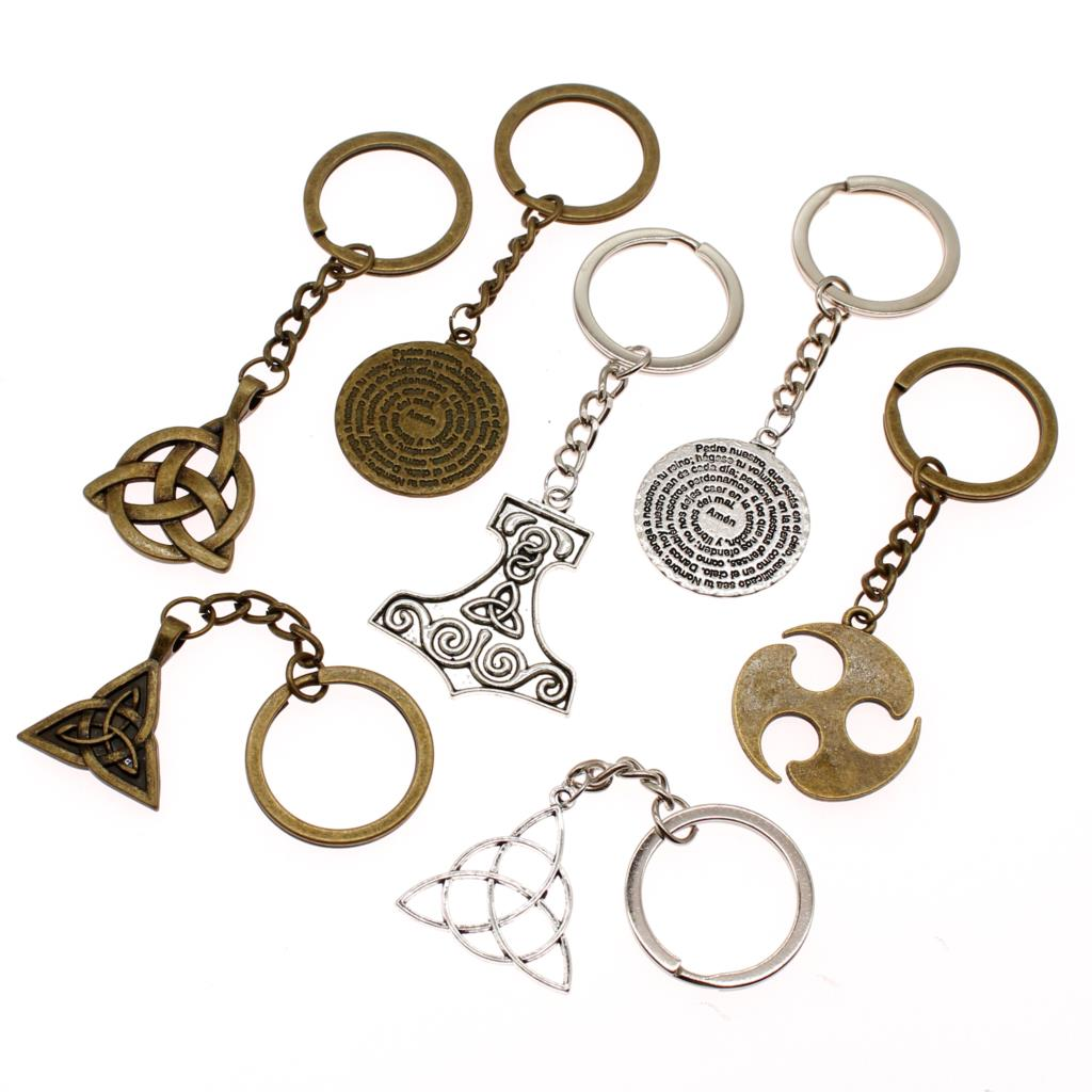 Hot Sale New Key Chain Women Amulet Ring Car Accessories DIY Men Jewelry Holder Souvenir Gift For Girls