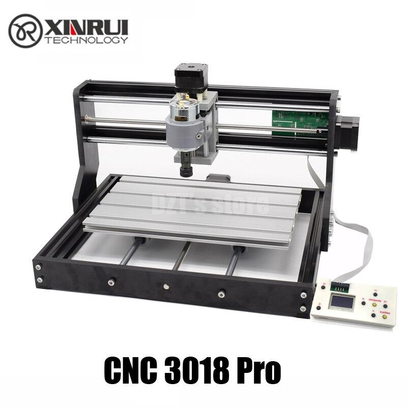 Cnc 3018 pro grbl controle diy mini máquina cnc, 3 eixos pcb fresadora, roteador de madeira gravação a laser, com controlador offline