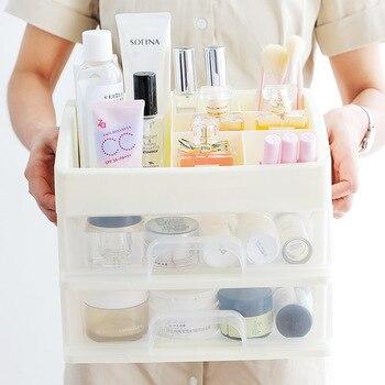 Makeup Organizer Drawers Plastic Cosmetic Storage Box Jewelry 1