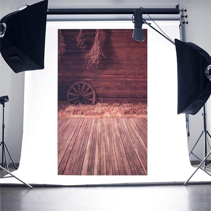 Wood Floor Wheel Photo Background Vinyl Studio Photography Backdrops Prop DIY