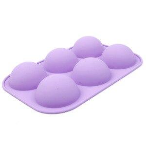 Image 3 - Новая силиконовая полусферическая форма для шоколадных кексов, форма для тортов DIY, декоративный инструмент для выпечки тортов