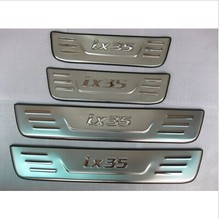 цена на High quality stainless steel Scuff Plate/Door Sill for 2010-2012 Hyundai ix35 Car styling
