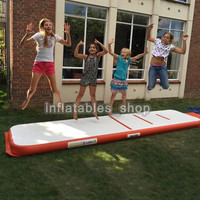Inflatable Air Tumble Track Olympics Gym Mat for Yugo taekwondo 4*1*0.1m Air Inflatable Gym Track Home use Electric Air Pump
