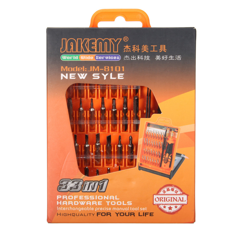 JAKEMY JM-8101 Precision Screwdriver Set 32 in 1 Hand Tools For Cell Phone Laptop Mini Electronic Screwdriver Repair Tool Kit