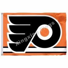 Philadelphia Flyers Flag 3ft x 5ft Polyester NHL Banner Philadelphia Flyers  Flying Size No.4 90 150cm Custom flag dfc87989c