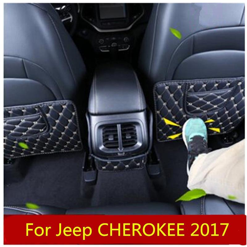 Pour Jeep Compass CHEROKEE RENEGADE GRAND COMMANDANT Planche Réaménagement Intérieur boîte pour accoudoir Arrière Siège pattes d'ours CarStyling bâches de voiture